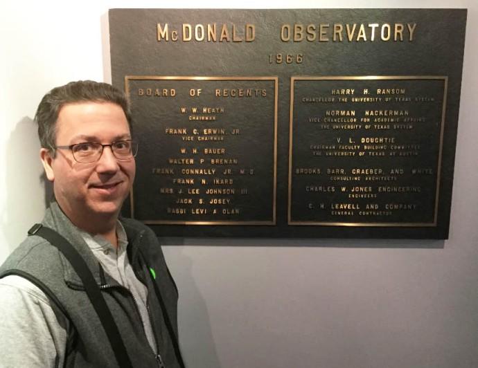 McDonald Observatory 1966 UT Board of Regents plaque